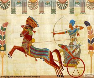 Ägyptische Krieger und Wagen puzzle