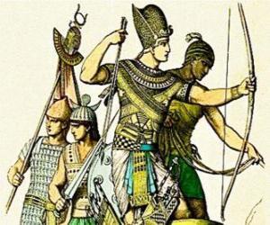Ägyptische Soldaten mit einem Bogen puzzle