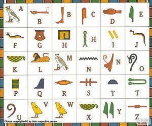 Ägyptischen alphabet puzzle
