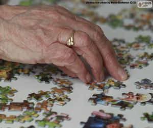 Ältere Person, Puzzle puzzle
