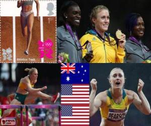 100 m Hürden Frauen London 2012 puzzle