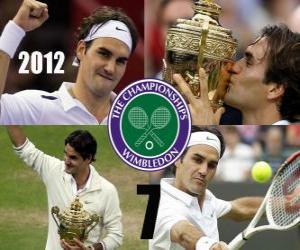 2012 Wimbledon Meister Roger Federer puzzle