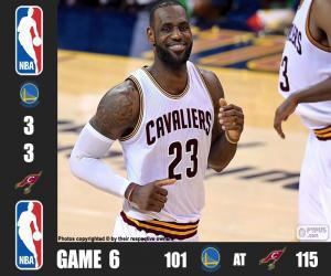 2016 NBA Finals, Spiel 6 puzzle