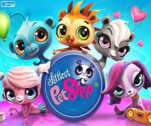 5 Tiere des Littlest PetShop puzzle