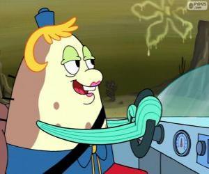 Mrs. Poppy Puff ist der Eigentümer und Lehrer einer Bootsfahrschule puzzle