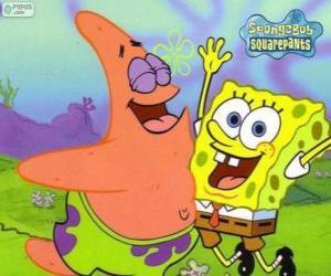 SpongeBob und Patrick sehr glücklich puzzle