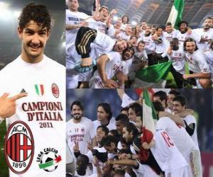 AC Mailand, italienische Liga Meister - Lega Calcio 2010-11 puzzle