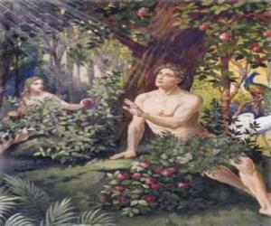 Adam und Eva im Paradies puzzle