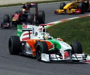 Adrian Sutil - Force India - Barcelona 2010 puzzle