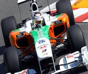 Adrian Sutil - Force India - Monte-Carlo 2010 puzzle
