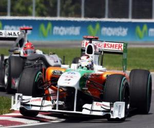 Adrian Sutil - Force India - Montreal 2010 puzzle