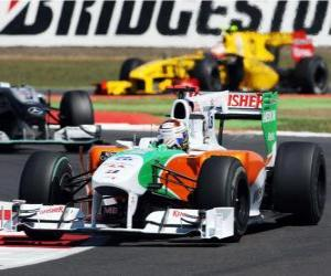 Adrian Sutil - Force India - Silverstone 2010 puzzle