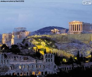 Akropolis in Athen, Griechenland puzzle