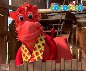 Alípio, die elegante Pferd Cocorico Bauernhof puzzle