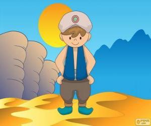 Aladin, ist der Protagonist ein junger armer puzzle