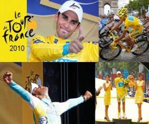Alberto Contador, Sieger der Tour de France 2010 puzzle