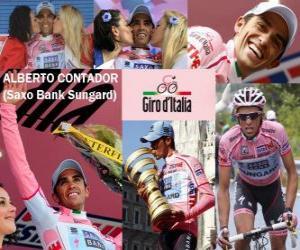 Alberto Contador, Sieger des Giro Italien 2011 puzzle