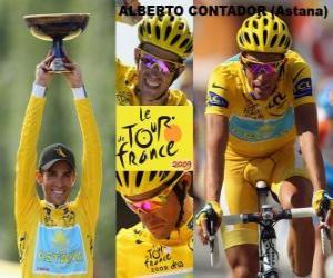Alberto Contador, Winer der Tour de France 2009 puzzle