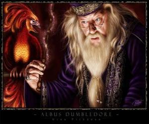 Albus Dumbledore ist der mächtigste Zauberer der ganzen Saga puzzle