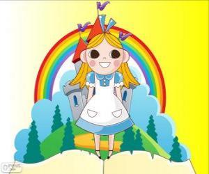 Alice, das Mädchen im Wunderland puzzle