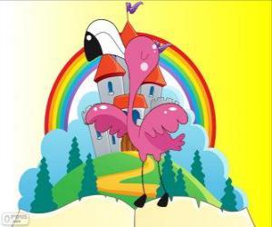 Alice spielt Krocket mit ein flamingo puzzle