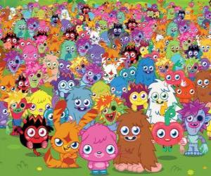 Alle Monster von Moshi Monsters puzzle