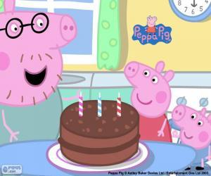 Alles Gute zum Geburtstag Peppa Pig puzzle