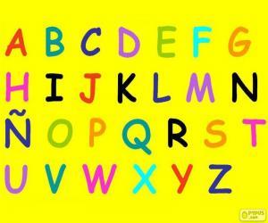 Alphabet mit großbuchstaben puzzle