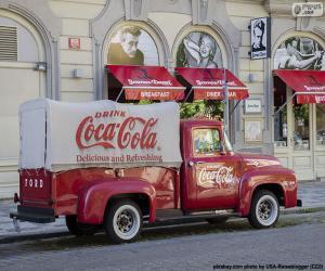 Alter Coca-Cola LKW puzzle