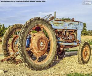 Alter Traktor puzzle