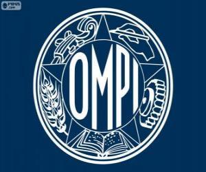 Altes Logo der WIPO, Weltorganisation für geistiges Eigentum puzzle