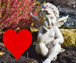 Amor i rote Herzen puzzle