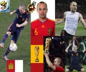 Andrés Iniesta (Sweet Iniesta) Spanish National Team Mittelfeldspieler puzzle