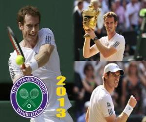 Andy Murray Meister Wimbledon 2013 puzzle