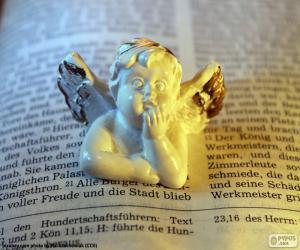 Angel und Bibel puzzle