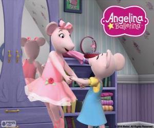 Angelina Ballerina und seiner geliebten Schwester Polly puzzle