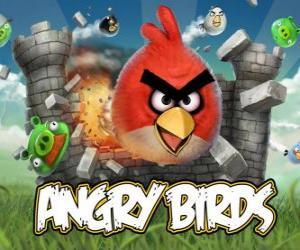 Angry Birds Rovio ist ein Videospiel. Angry Vögel greifen die Schweine, die Eier zu stehlen puzzle