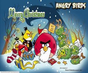 Angry Birds wünschen Ihnen ein frohes Weihnachtsfest puzzle