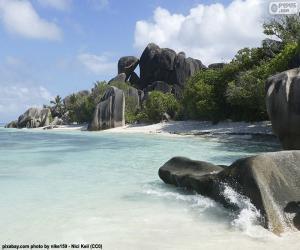 Anse Source d'Argent, Seychellen puzzle