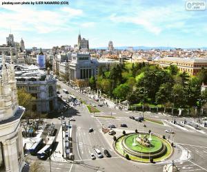 Ansicht von Madrid, Alcalá-Gran Vía puzzle
