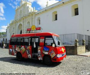 Antigua City Tour, Bus puzzle