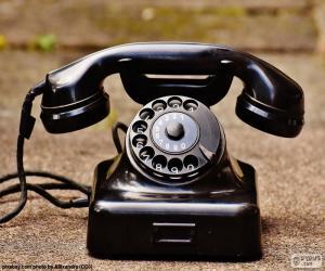 Antikes Telefon puzzle