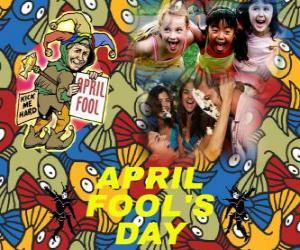 Aprilscherz gefeiert am 1. April gewidmet Witze in vielen Ländern puzzle