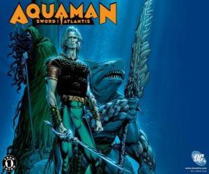 Aquaman war eines der Gründungsmitglieder des Gerechtigkeitsliga oder JLA puzzle