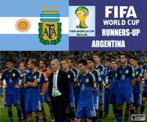 Argentinien 2. klassifiziert der Fußball-Weltmeisterschaft für Brasilien 2014 puzzle