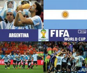 Argentinien feiert seine Einstufung, Brasilien 2014 puzzle