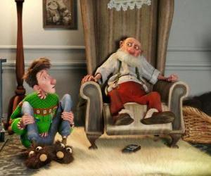 Arthur Weihnachten mit seinem Großvater puzzle