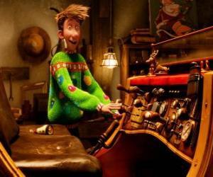 Arthur Weihnachtsmann gerade den alten Schlitten puzzle