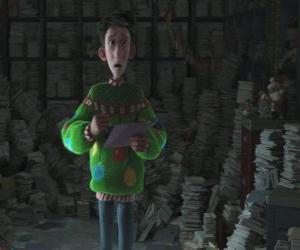Artur Świąt Bożego Narodzenia umgeben von Tausende von Briefen puzzle