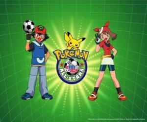 Ash, Mai und Pokemon puzzle